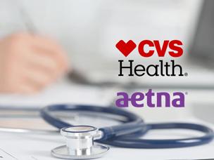 Logo's CVS en Aetna