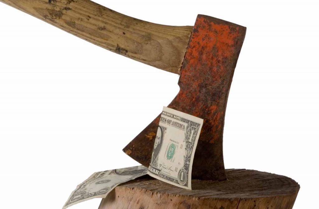 Bijl die door het dividend klieft