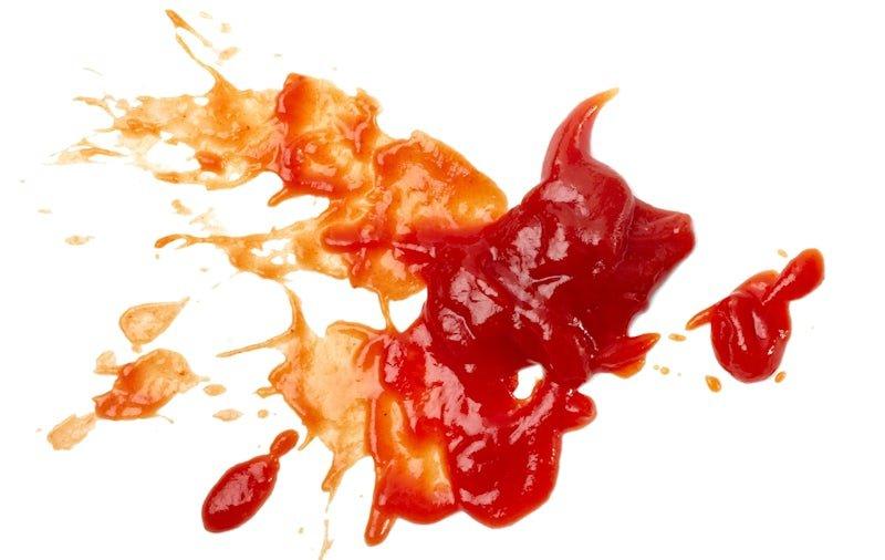 Ketchup vlek