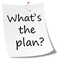 Memo met tekst: What's the plan?