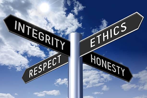 Verkeersbord waarden leiderschap