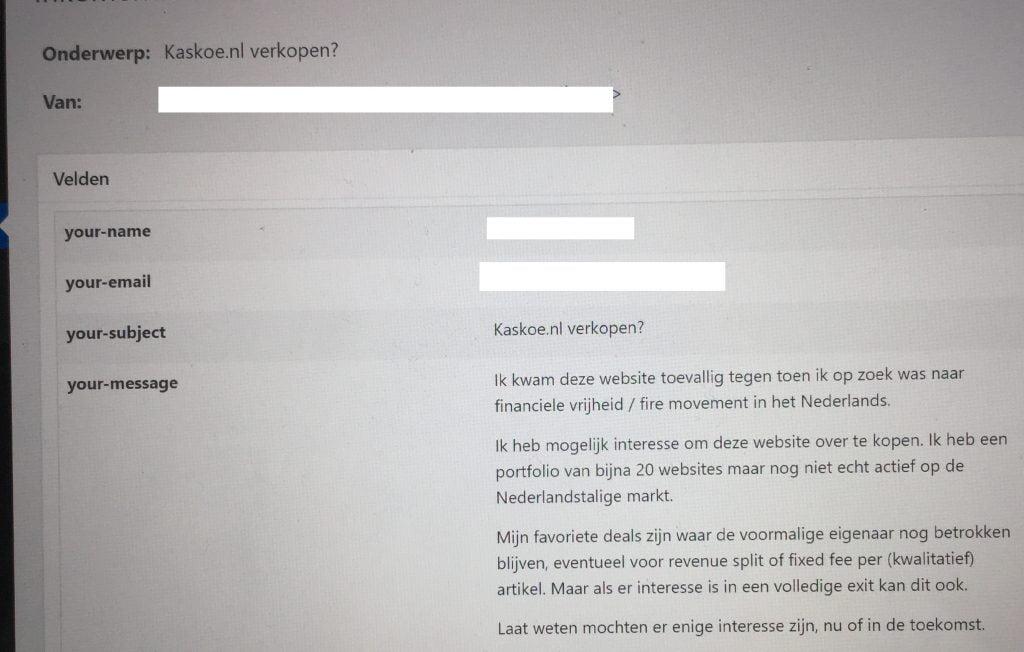 Aanbod verkoop Kaskoe.nl