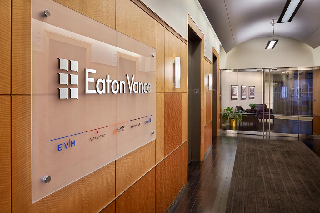 Lobby kantoor Eaton Vance: ondergewaardeerde dividend aristocraat