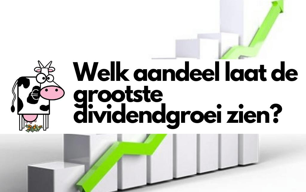 Welk aandeel laat de grootste dividendgroei zien?