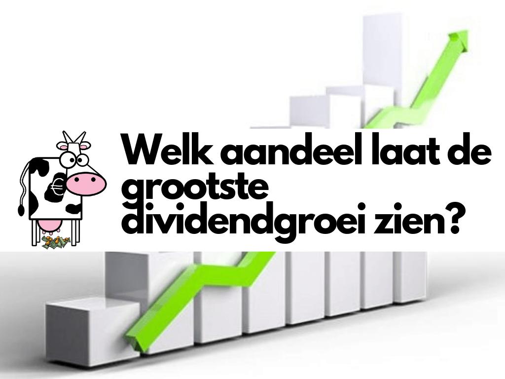 Welk aandeel laat de grootste dividendgroei zien