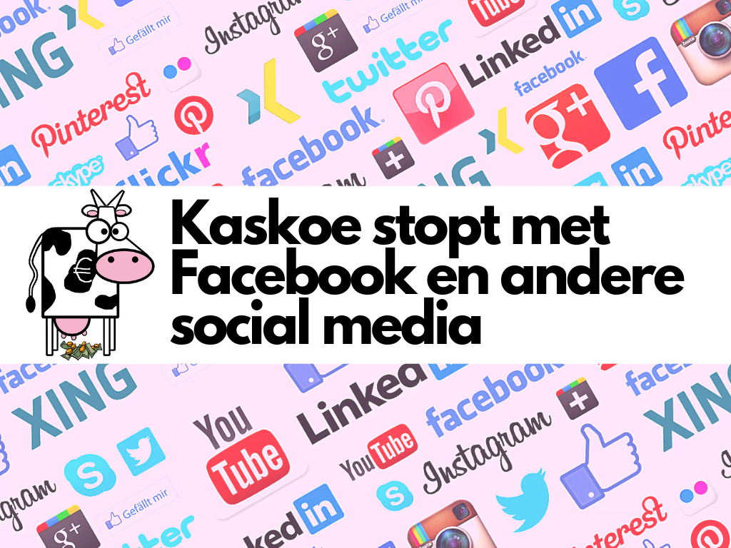 Stoppen met Facebook en andere social media