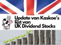 Update van de lijst met Britse dividendaandelen