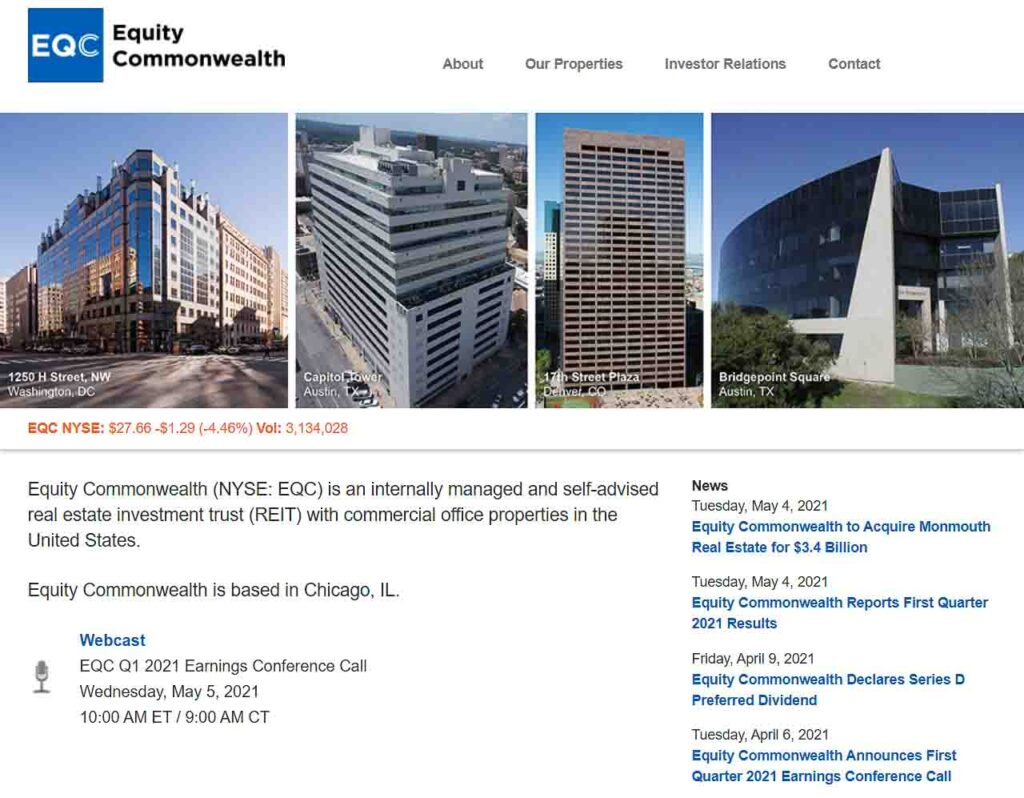 Overname van Monmouth Real Estate Investment