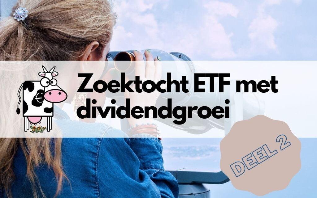 Criteria van een ETF met dividendgroei-aandelen