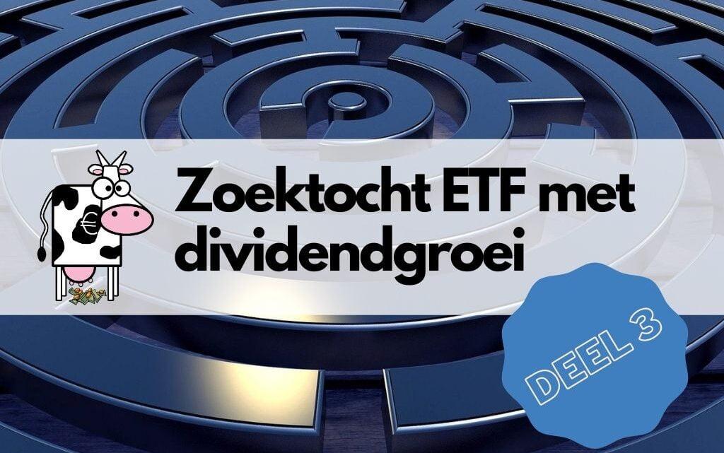 Shortlist van ETF's met dividendgroei-aandelen