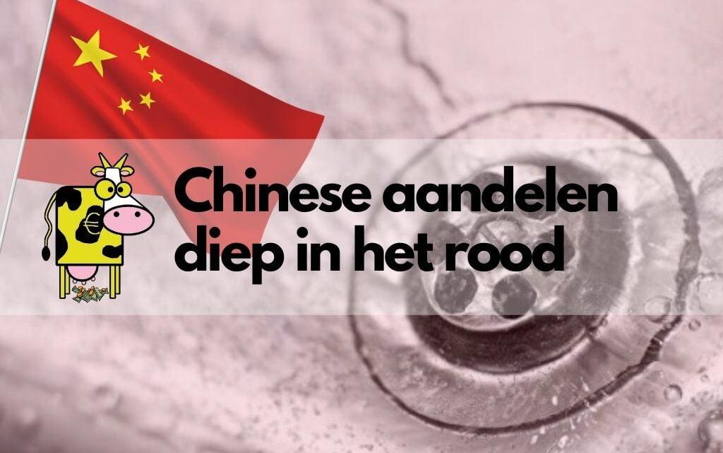 Chinese aandelen staan diep in het rood